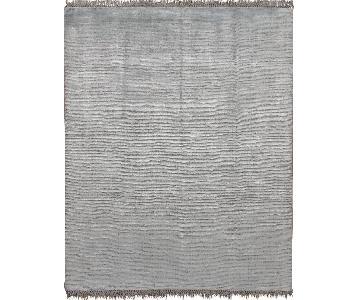Contemporary Simplicity Aqua/Silver Rug