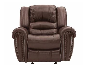 Raymour & Flanigan Cole Leather Power Recliner