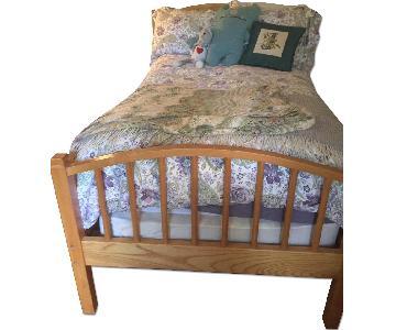 Ethan Allen Maple Wood Twin Bunk Beds