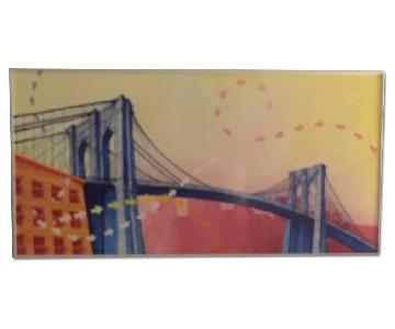 Brooklyn Bridge Framed Painting