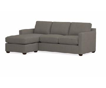 Crate & Barrel Davis Microsuede Sectional w/ Chaise