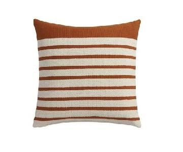 CB2 Gold & Beige Division Throw Pillow