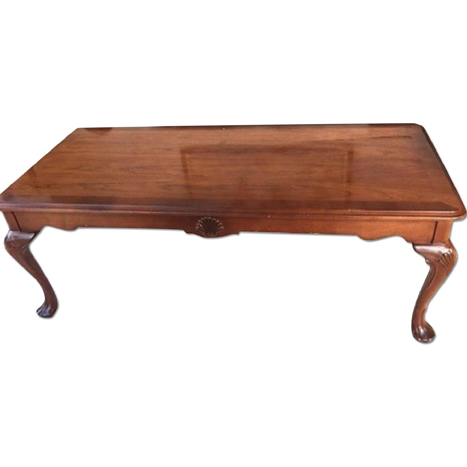 Cherry Wood Coffee Table Aptdeco