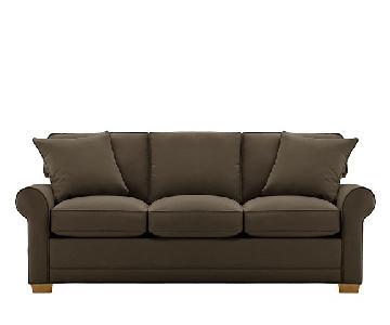 Raymour & Flanigan Fresno Microfiber Queen Sleeper Sofa