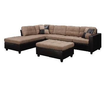 Coaster Fine Furniture Microfiber Bonded Leather Sectional S