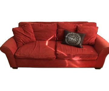Crate & Barrel Orange Sofa