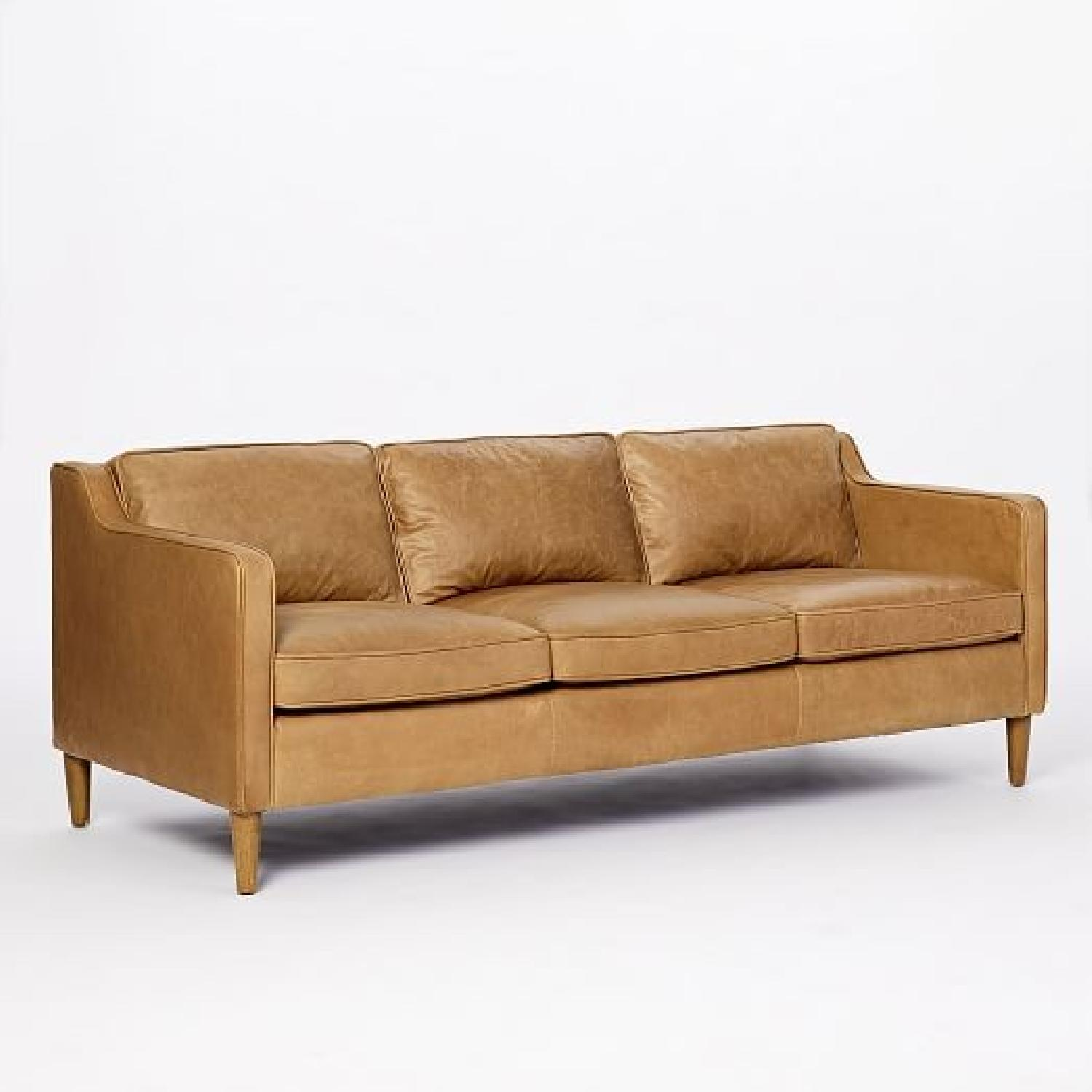 West Elm Hamilton Sienna Leather Sofa In Tan Color ...