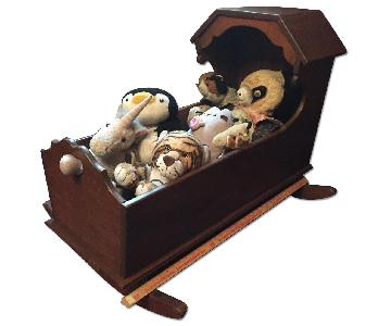 Wooden Colonial Baby Cradle/Toybox