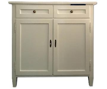 Crate & Barrel White Cornerstone Cabinet