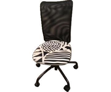 Ikea Torbjorn Black & White Desk Chair on Wheels