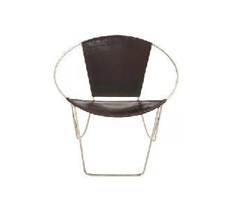 AllModern Papasan Metal & Leather Chairs