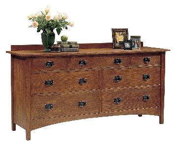 Stickley Harvey Ellis Seven Drawer Oak Dresser