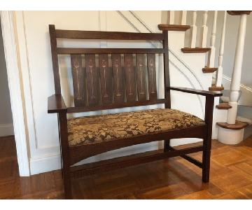 Stickley Harvey Ellis Oak Settee