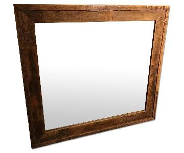 Custom Aged Wood Mirror