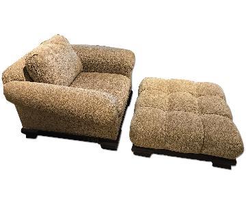 Tomlinson Companies Oversized Arm Chair & Ottoman