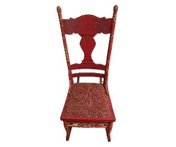 Antique Red Rocking Chair