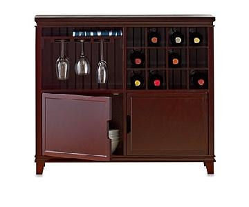 Real Simple Sideboard w/ 2 Compartments & Wine Rack