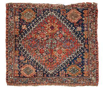 Antique 1870s Persian Gashkai Bag Face