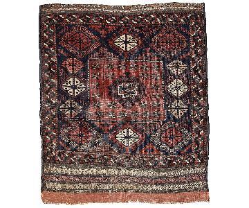 Antique 1880s Afghan Baluch Rug