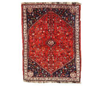 Vintage 1960s Persian Gashkai Rug
