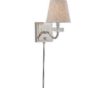 Crate & Barrel Vivian Plug-In Wall Sconce