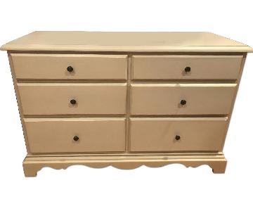 Pottery Barn Ivory Wide Dresser