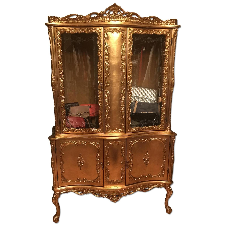 Handmade Gold Italian Armoire - AptDeco