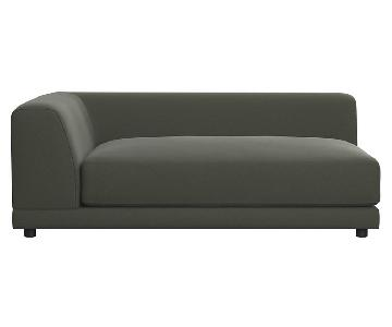 CB2 Uno Deep Chaise Lounge