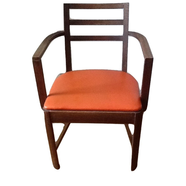 mid century orange dining side chair aptdeco. Black Bedroom Furniture Sets. Home Design Ideas