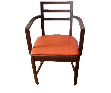 Mid-Century Orange Dining Side Chair