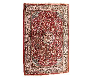 Vintage 1980s Persian Sarouk Rug