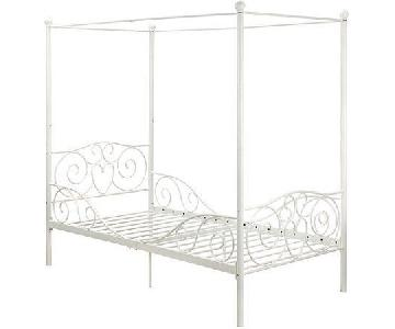 Twin Size Canopy Bed Frame