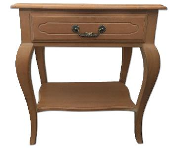Ethan Allen Amber/Bisque Birch Hardwood Side Tables/Night St