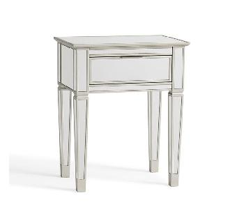 Pottery Barn Mirrored Bedside Table
