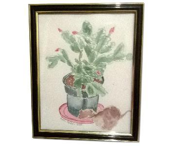 Winter Cactus w/ Leaf
