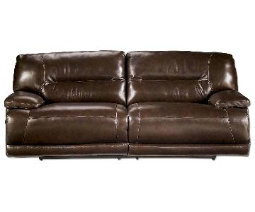 Ashley's Leather Power Recliner Couch
