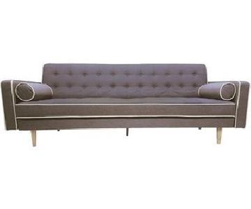 Madison Collection 2-Tone Mid-Century Modern Grey Sleeper So
