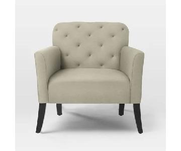 West Elm Elton Arm Chair in Oatmeal