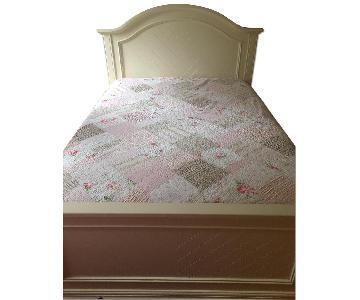 White Wood Full Size Bed Frame