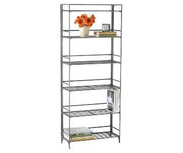 Container Store 6-Shelf Foldable Iron Shelving Unit