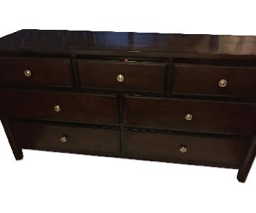 Raymour & Flanigan Merlot 7 Drawer Dresser