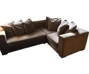 West Elm Grey Sectional Sofa