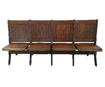 Vintage Theater Bench