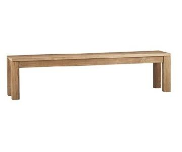 Crate & Barrel Pacifica Teak Dining Bench