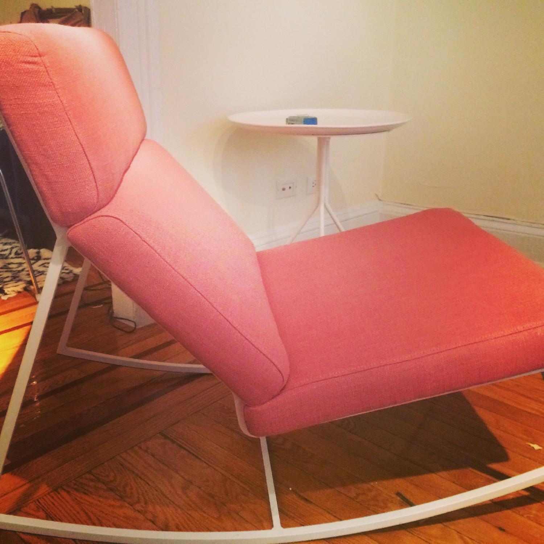 ABC Carpet & Home Salmon/Pink Rocking Chair - image-1