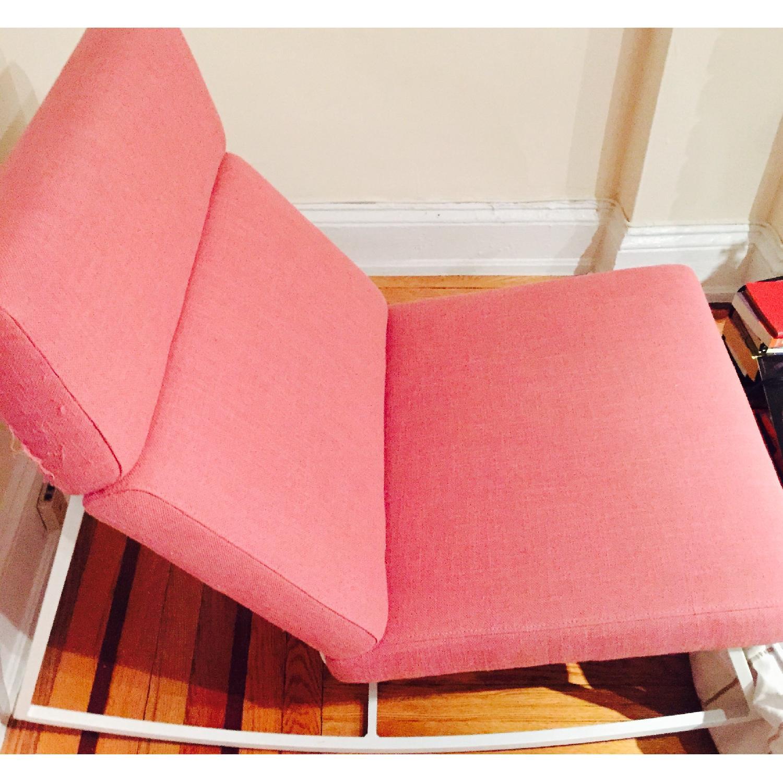 ABC Carpet & Home Salmon/Pink Rocking Chair - image-2