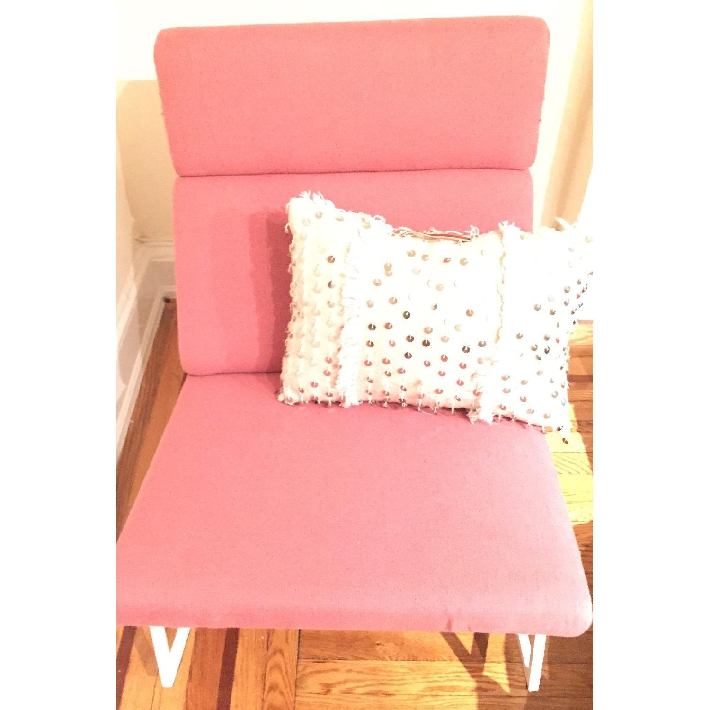 ABC Carpet & Home Salmon/Pink Rocking Chair - image-3