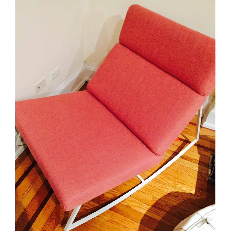 ABC Carpet & Home Salmon/Pink Rocking Chair - image-4