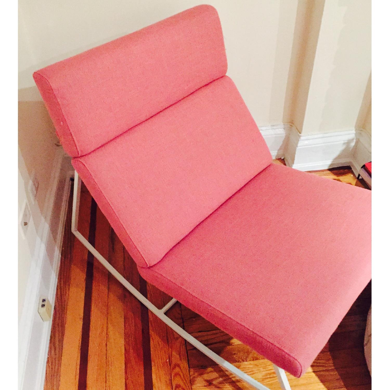 ABC Carpet & Home Salmon/Pink Rocking Chair - image-6