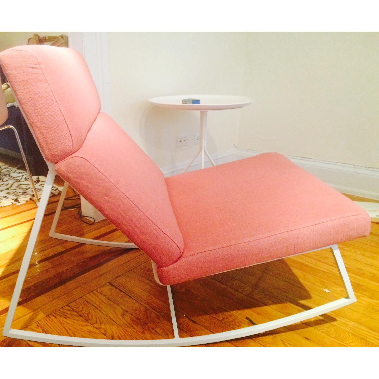 ABC Carpet & Home Salmon/Pink Rocking Chair - image-8